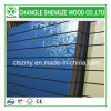 Blue Melamine Color with Patern Slot MDF