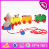 2015 Educational Kids Wooden Pull Line Toy, Funny Play Children Wooden Pull Line Toy, Hot Sale Baby Pull Line Train Toys W05b088