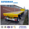 4 Axle Flatbed Cargo Semi Truck Trailer Heavy Duty