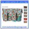 Shoulder Satchel Bag in Owl Pattern with PVC Coating Fabric