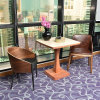 Backrest Lounge Style Chair with Table for Restaurant Made in China