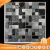 Random Size Black Color Bathroom Wall Decoration Tile Glass Mosaic (M855332)
