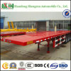 Tri-Axle 1 * 40 Feet Container or 2 * 20 FT Shipping Container Flatbed Semitrailer