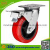 Industrial Swivel Double Brake Polyurethane Wheel Caster