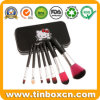 Rectangular Cosmetic Tin Box for Makeup Brush Kit