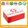 Custom Rectangular Metal Storge Tin Box for First Aid Kit