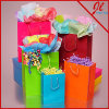 Colored Glossy Paper Euro Totes Bags Paper Shopping Bags