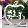 Colors Crystal Glass Apple for Christmas Gift