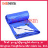 Blue Silver Plastic Waterproof PE Woven Tarpaulins for Agriculture Cover