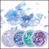 Acrylic Nail Glitter Foil Paper Mermi-Corn Holographic Shattered Glass Flakes