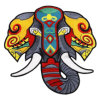 Custom Shape Iron on Applique Machine Embroidered Patch