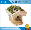 Custom Rustic Garden Small Wooden Flower Pot Bird House