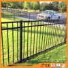 Privacy Decoration and Security Black Flat Top Garden Fence Panel