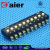 Black 10 Position SMD Type DIP Switch