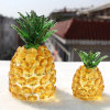 Elegant Crystal Glass Pineapple Craft for Gift