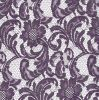 Purple Floral Mesh Lace Fabric for Garment, Curtain, Table Decorations