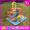 2016 New Products Child Wooden Parking Garage Toy, High Quality Car Parking Garage Toy, Best Sale Car Parking Toy W04b034