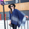 Lady Fashion Houndstooth Pattern Winter Acrylic Knitted Big Shawl (YKY4513)