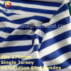 Cotton Spandex Stripe Yarn Dyed Jersey Fabric for T-Shirt Garment Textile (GLLML268)