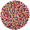 Colorful Felt Decoration Ball Christmas Ornaments Felt Balls