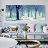 Bedroom Wall Art Modern Oil Painting Lanscape Art Prints on Canvas
