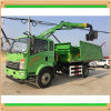 4X2 Truck LHD Steering Type Dump Tipper Truck with Crane
