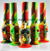 Portable Silicone Roll-up Skull Water Hookah Camouflage Multicolor 8""