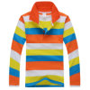 Cheap Long Sleeve Stripes Children Polo Shirt