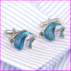 2016 New Silver Plating Painting Clown Fish Cuff Links