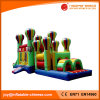 Amazing Color Mixed Inflatable Bouncy Assault Obstacle Course (T8-204)