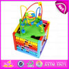 2015 Educational Toy Wooden Beads Maze Cube, Wooden Educational Toy, Multifunction Wire Bead Maze Wooden Educational Toys W12D025
