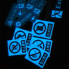 8-10 Hours Luminous Glow in Dark Photoluminescent Signs for Passage Safety