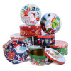 Round Christmas Theme Candy Tins Home Baker Cookie Tin