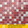 Red Mixed Swimming Pool Crystal Glass Mosaic Tiles