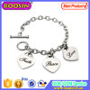 Imitation Jewelry Custom Heart Shape Charm Bracelet