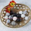 White with Grey Veins Marble Balls /Stone Balls/ Stone Easter Eggs