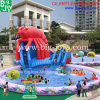 Inflatable Floating Water Park, Inflatable Lobster Water Slide with Pool