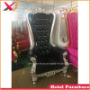 Cheap Royal Black Wedding High Back Queen King Throne Chair