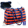 Custom Stripe Printing Neoprene Tote Bag Neoprene Shopping Bag, Carry Handbag
