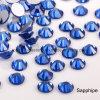 Flatback Nail Art Rhinestones Round Glass Stones Glue on Nail Beads Ab Strass Crystal (FB-ss20 sapphire/3A)