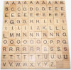 26 English Letters Natural Wood Children's Games Block Early Education Puzzle Letters Wood Pieces