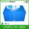Electric Car Battery LiFePO4 72V 100ah