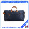 Classic and fashion Leather Trimmed Canvas Carry-on Duffel Bag