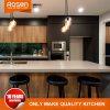Wood Timber Veneer with Grey Lacquer Kitchen Cabinet Furniture