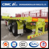 Cimc Huajun 40FT Flatbed Trailer with Front Wall