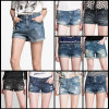Lady Jeans Stock Pants Women Jeans (FF726-1)