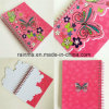Cute Paper Cover Double Coil Spiral Notebook Recycle Paper