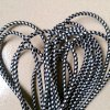 Black White Patterns Fabric Braided Cable