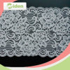 1.5cm White Swiss Flower Design Stretch Lace