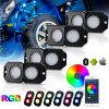 New Product 12V 18W IP68 Waterproof White 4pods Mini LED Rock Light